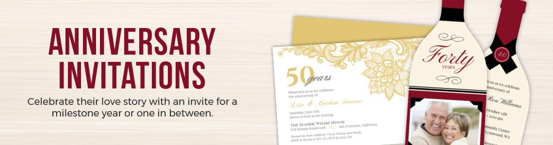 Popular Wedding Anniversary Invitations