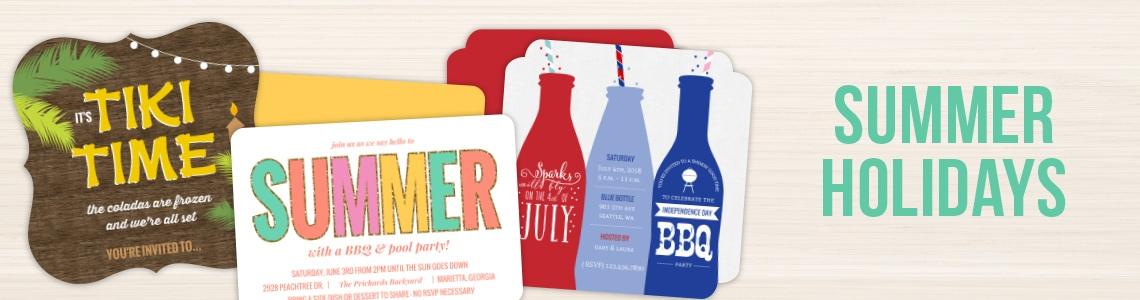 Popular Summer Party Invitations