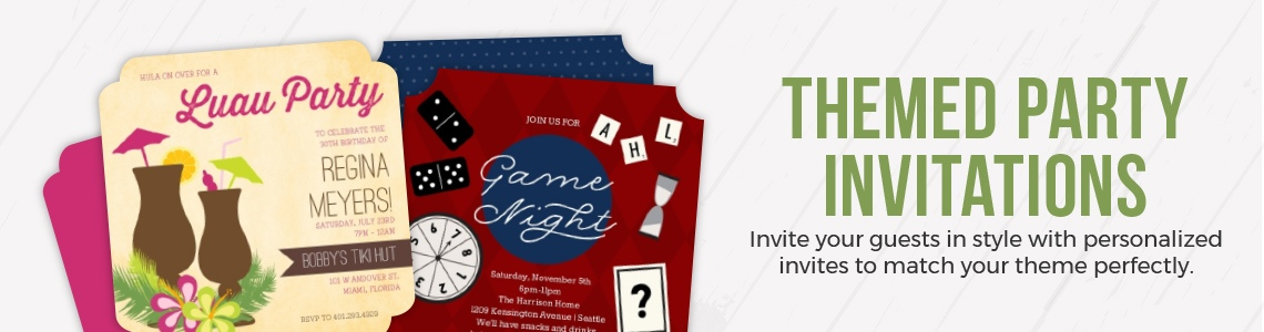 Popular Theme Party Invitations
