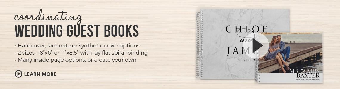 Wedding Guest Book, Wedding Guestbook, Personalised Wedding Guest Book
