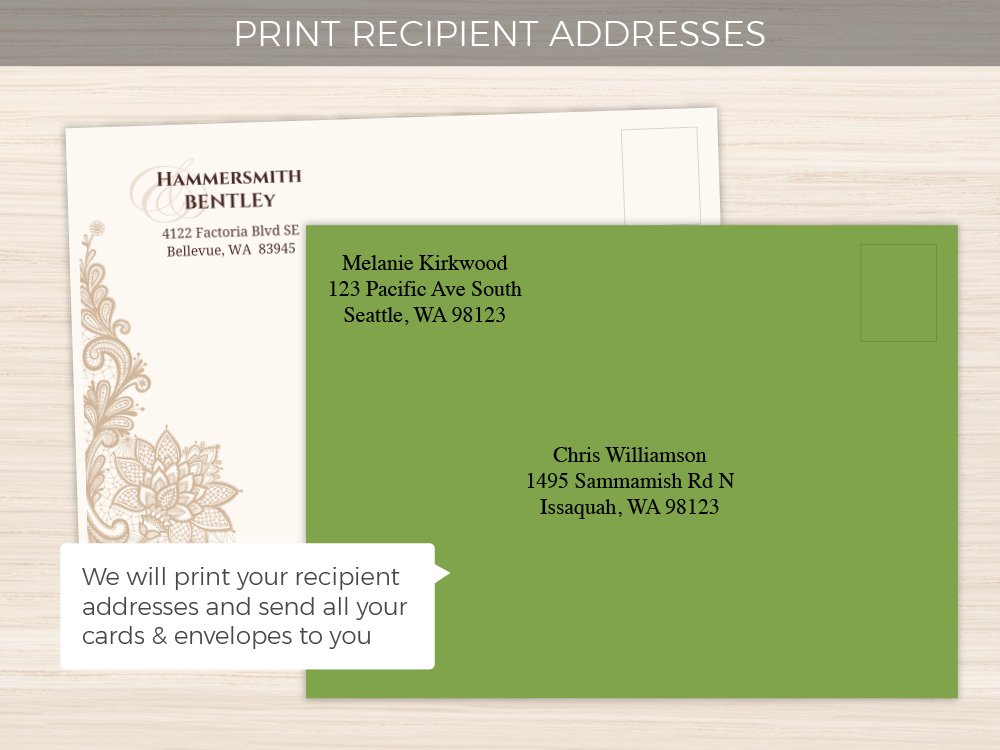 Watercolor Succulents Tri-fold Wedding Invitation