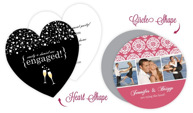 Die Cut Cards - Perfect for shower invitations, save the dates, wedding announcements and more