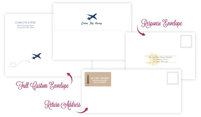 Custom Printed Wedding Envelopes
