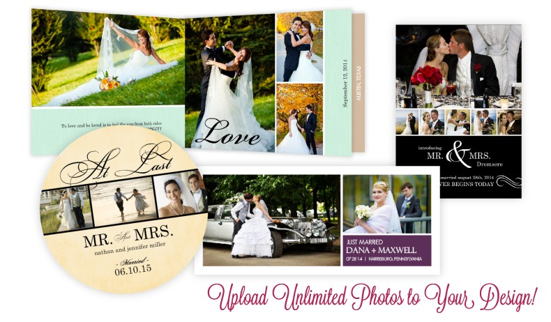 Add unlimited photos to your wedding invitation
