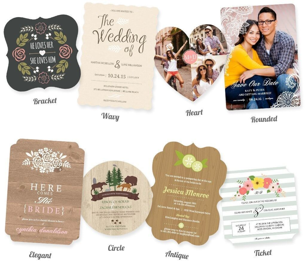 Create one-of-a-kind designs with Bracket, Wavy, Heart, Rounded, Elegant, Circle, Antique & Ticket trim options