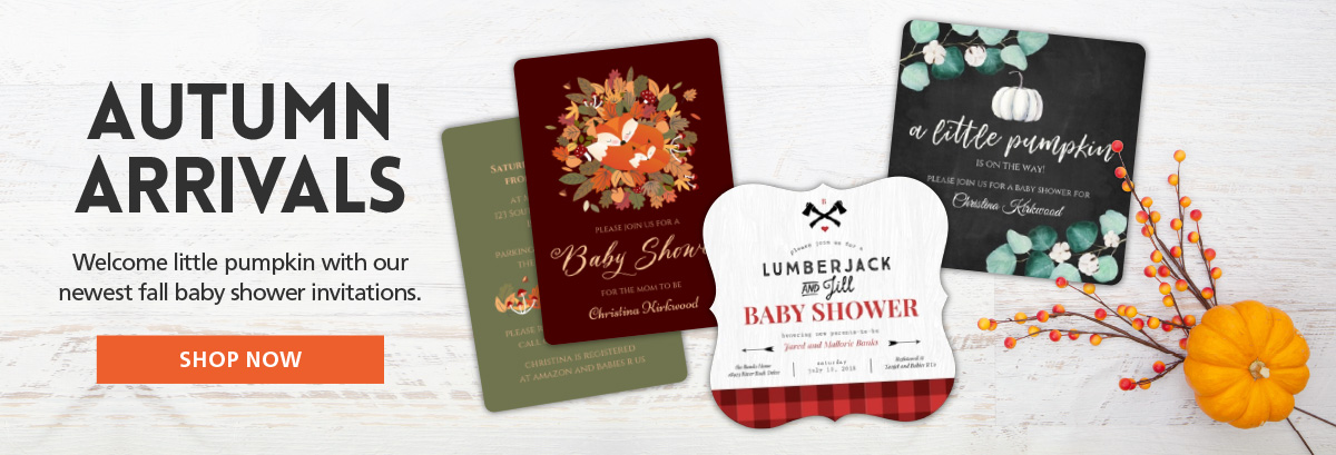 Inexpensive Fall Baby Shower Invitations