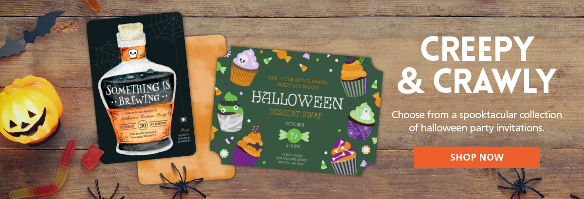 Inexpensive Halloween Invitations