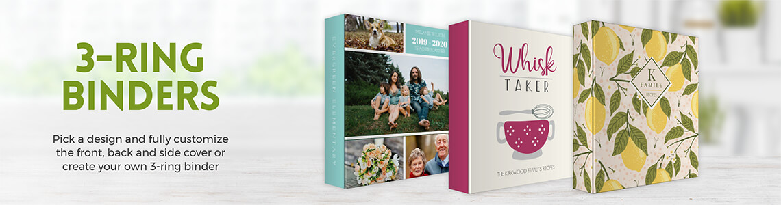 Custom Binders, Personalized Binders, Design Your Own Binder