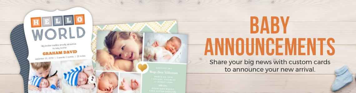 Popular Baby Birth Announcements