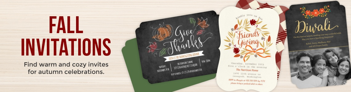 Popular Invitations for Fall Parties