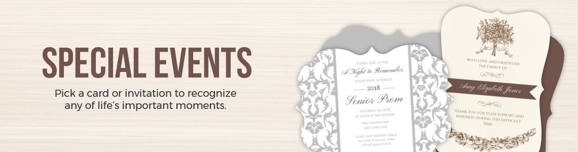 Popular Special Event Invitations