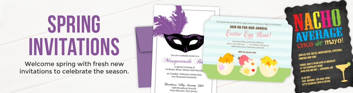 Popular Invitations for Spring Holidays