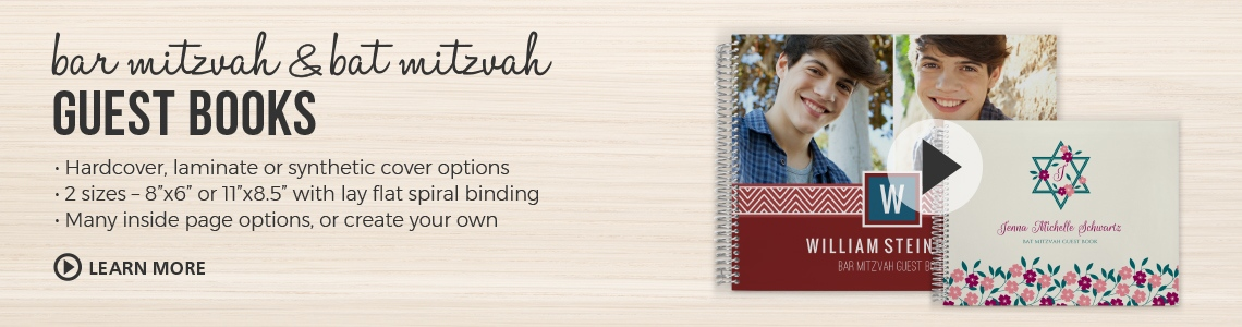 Bar and Bat Mitzvah Guest Books