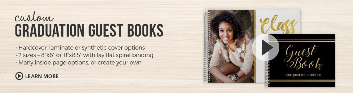 Graduation Guest Book, Graduation Sign In Book, Graduation Guestbook