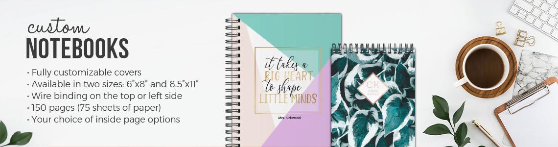 Custom Notebooks, Personalized Notebooks, Spiral Notebooks