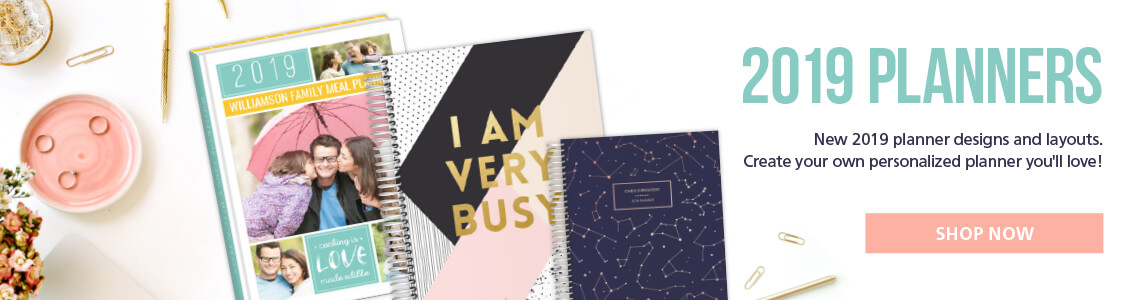 New 2019 planner designs and layouts