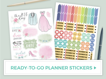 Ready To Go Planner Stickers