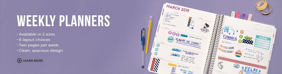 Weekly Planners, Weekly Agenda, Weekly Calendar