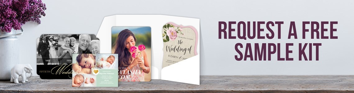Request a free sample pack of cards
