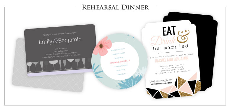 Rehearsal Dinner Cards