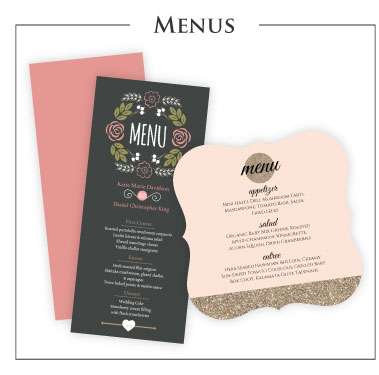 wedding programs rehearsal dinner invitations and more