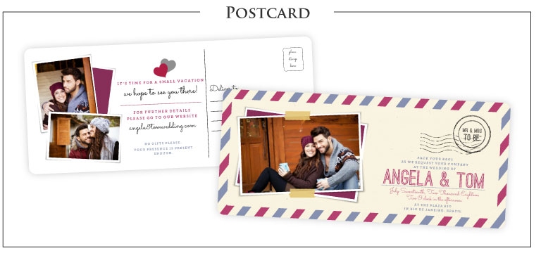 Postcard Wedding Invitations