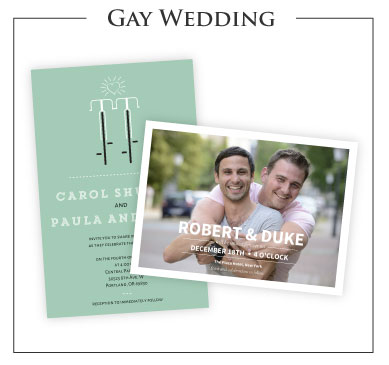 Gay Wedding Invitations