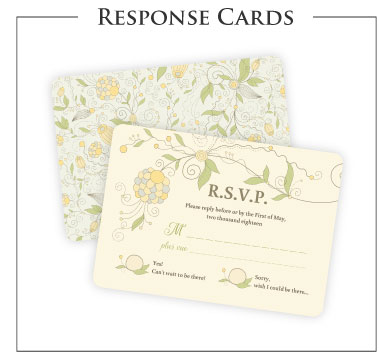 Wedding Invitations. Response Cards