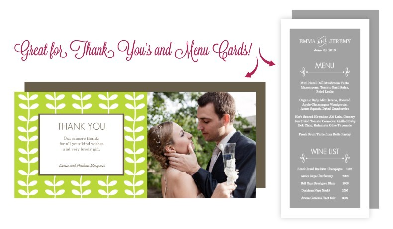 Long and Skinny Wedding Cards