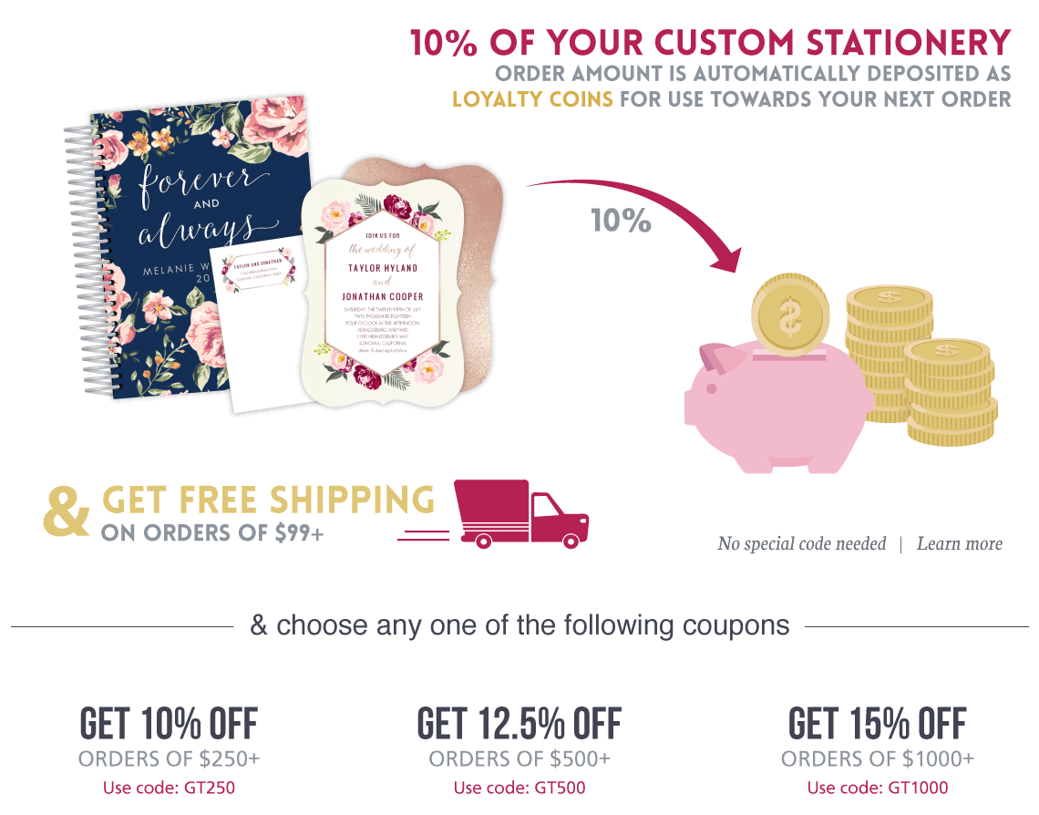 WeddingPaperie Coupons, Purple Trail Coupon Codes, WeddingPaperie ...